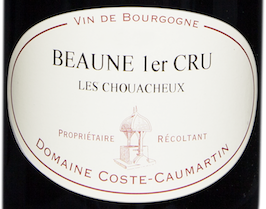Etiquette Beaune 1er Cru rouge Les Chouacheux