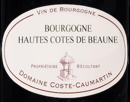 Etiquette Bourgogne Hautes Cotes de Beaune