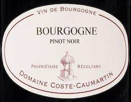 Etiquette Bourgogne Pinot Noir