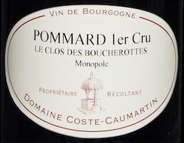 Etiquette Pommard 1er Cru Le Clos des Boucherottes