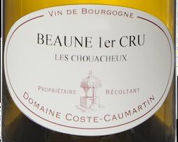 Etiquette Beaune 1er cru blanc Les Chouacheux